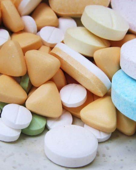 white blue and purple multi shape medicine pills 208541
