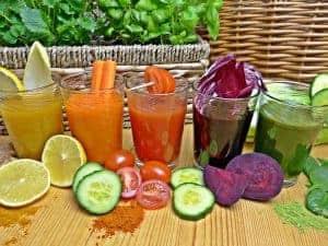 des shakes sains à base de fruits et légumes