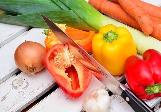 poivrons, oignons et poireaux