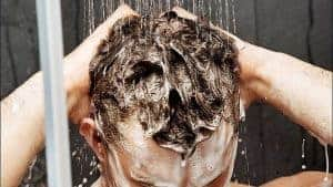 washing your hair in the shower