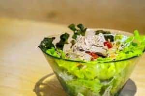 one, a healthy salad
