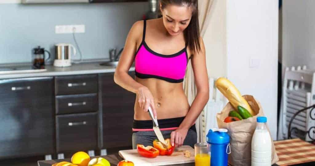 woman cooks