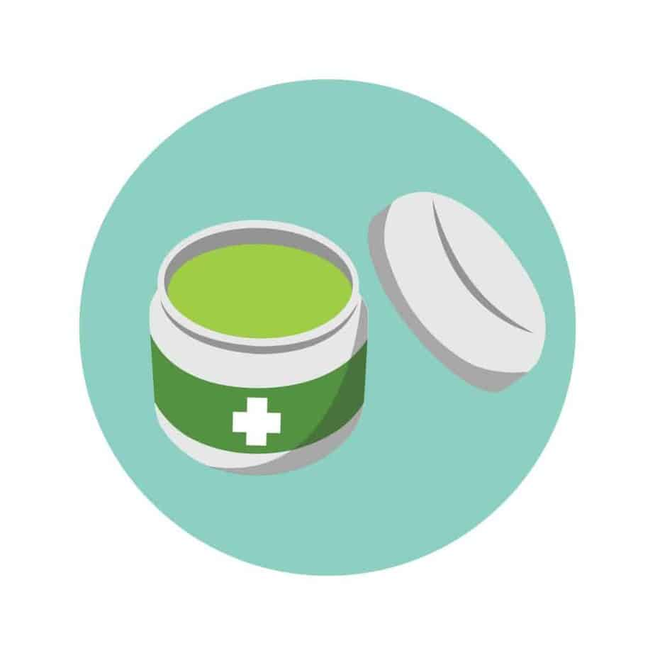 illustration of an ointment box