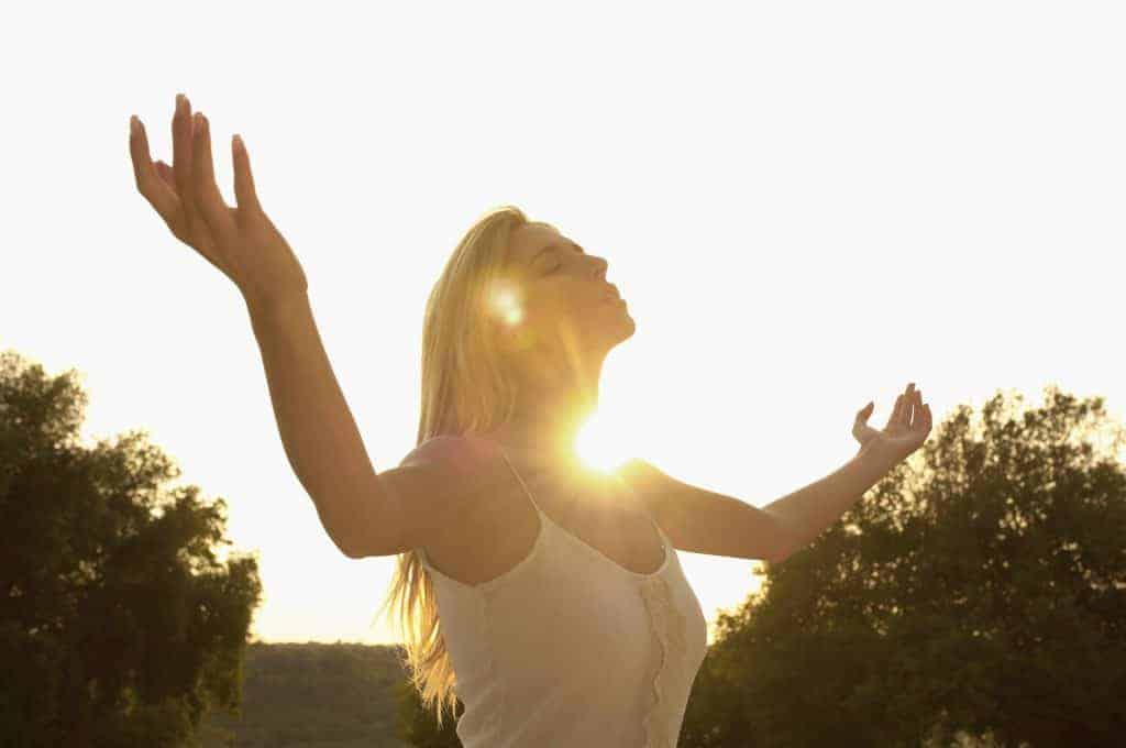 woman in the sun