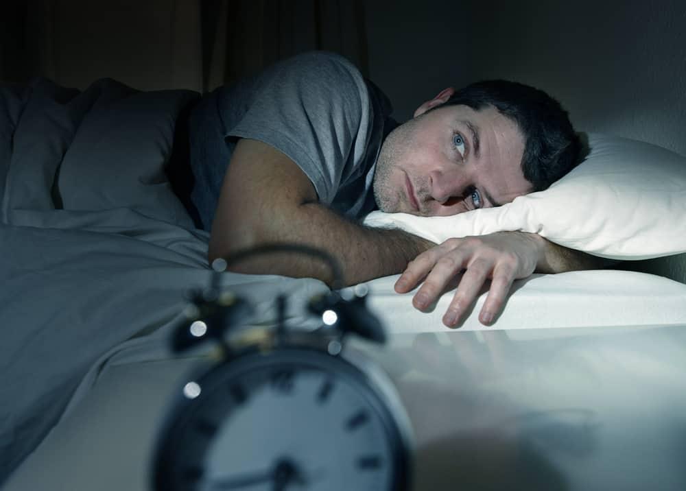 man can not fall asleep