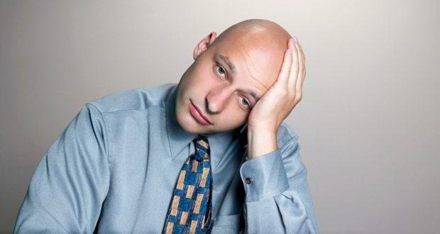 bald sad man