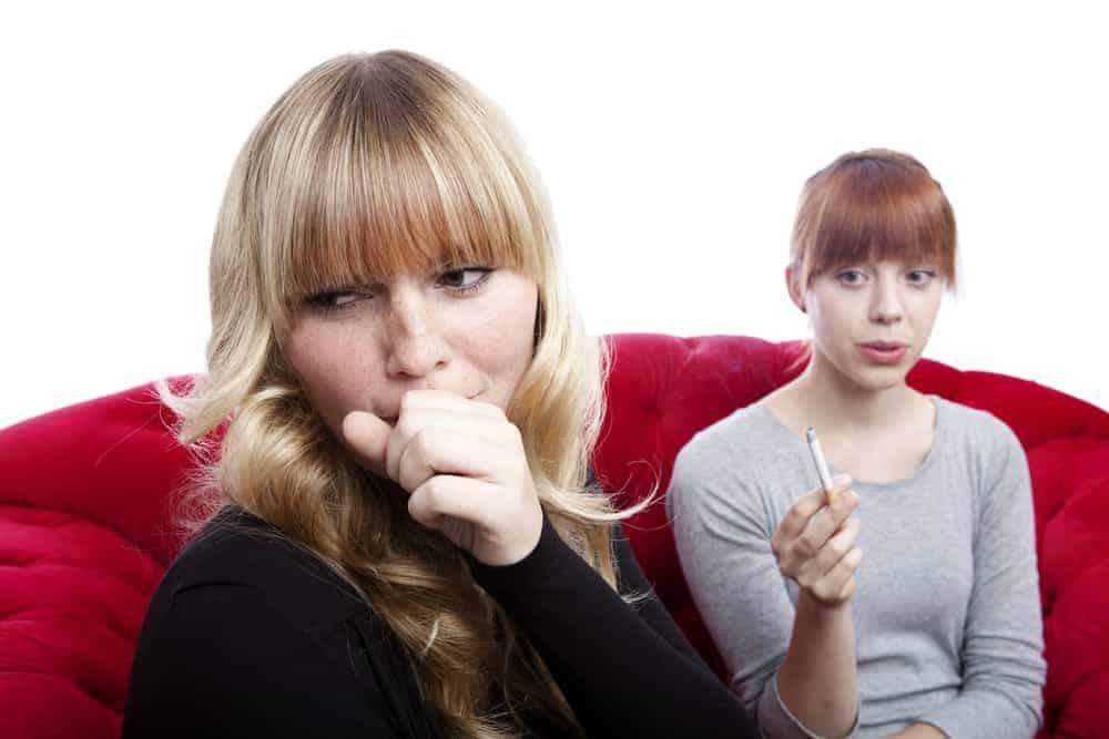 Passive smoking cough