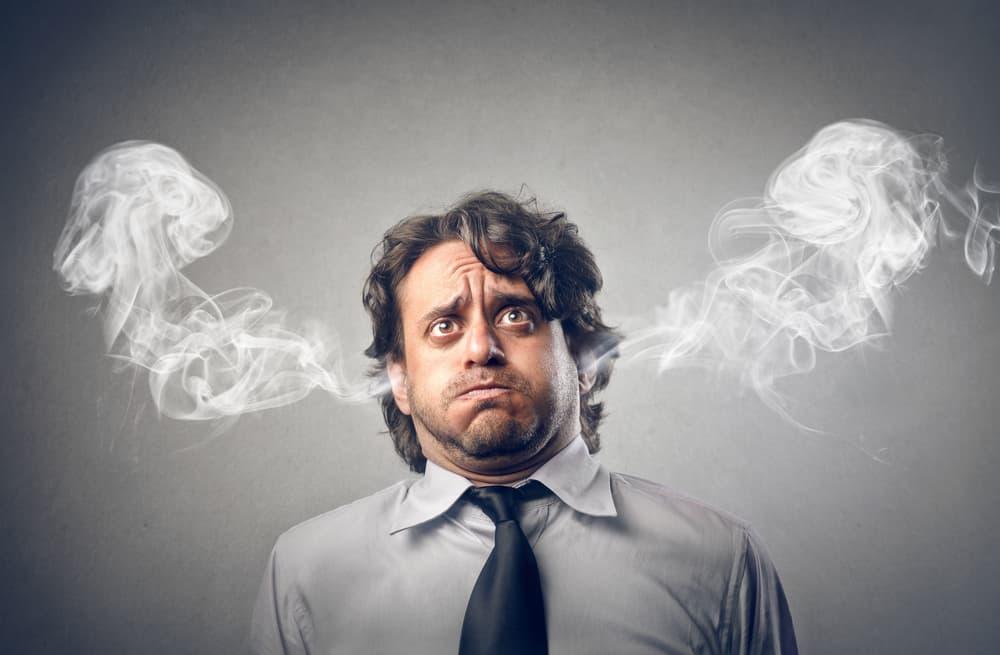 The stressed man