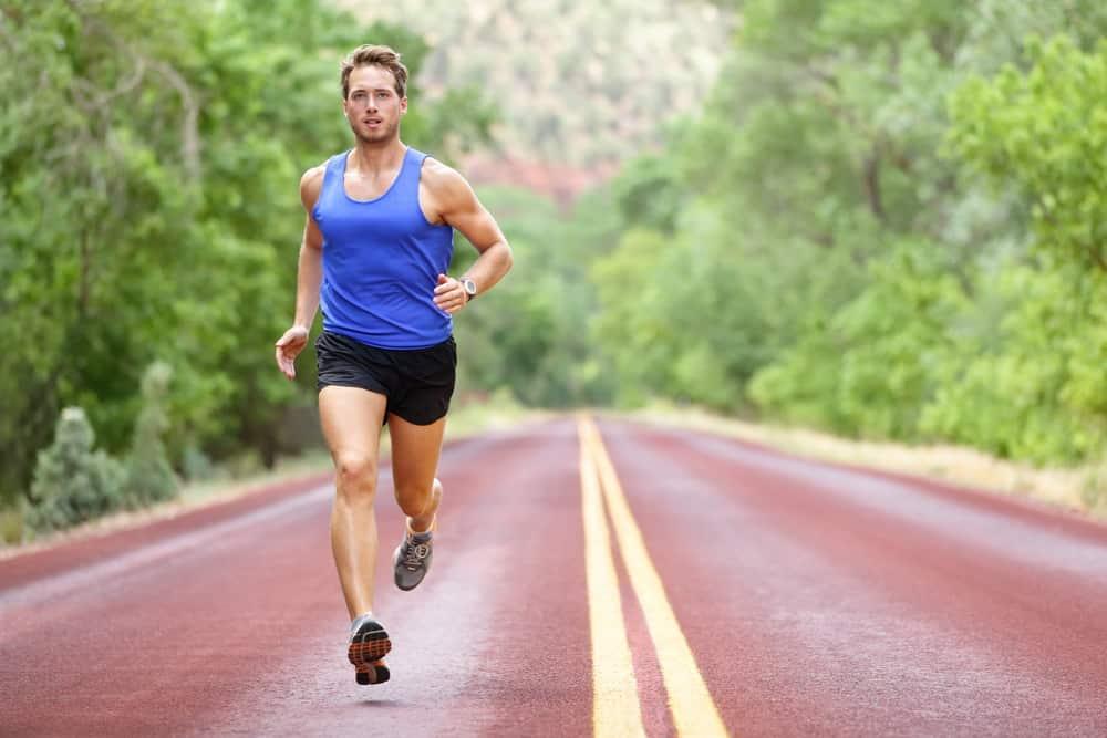 The male runner