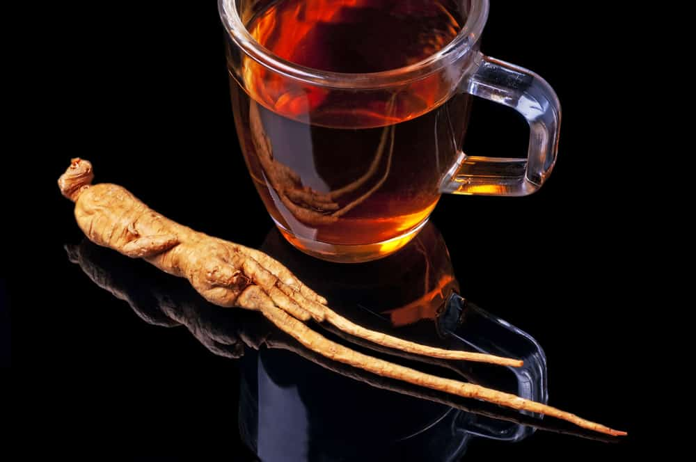 Tea with ginseng