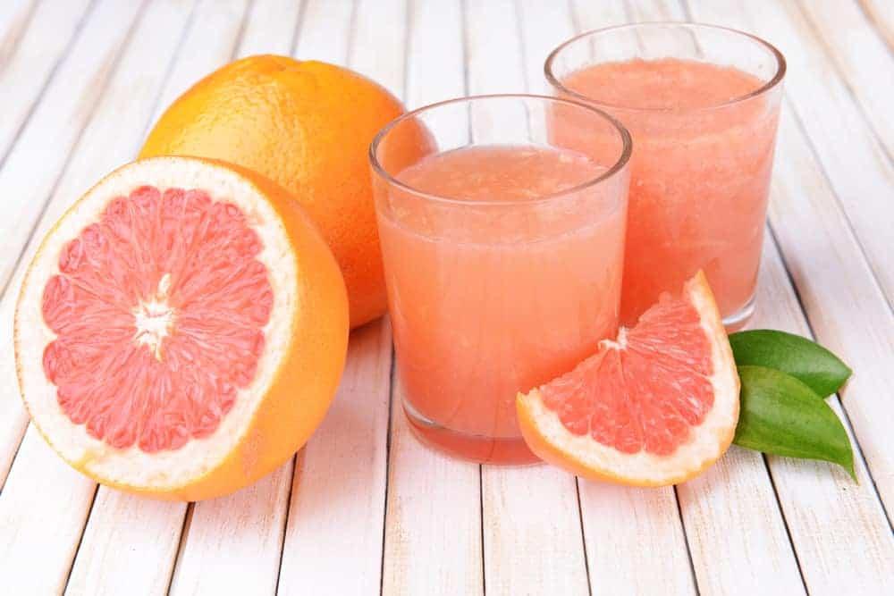 Grapefruits and fruit juice