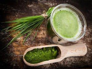 Shake with green barley