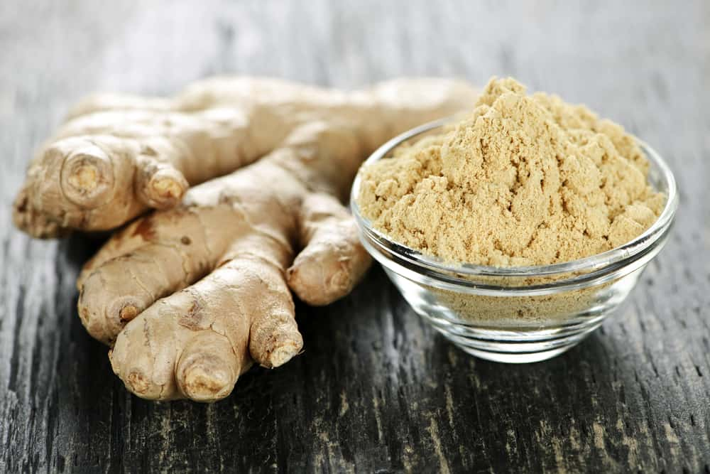 Ginger root raw and powdered