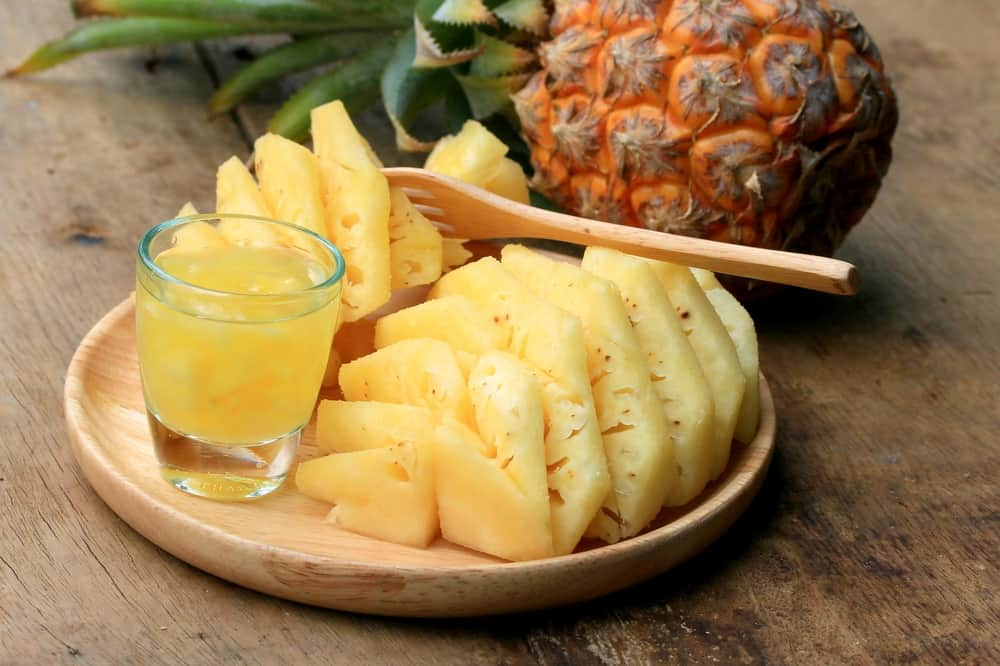 Fruit and pineapple juice
